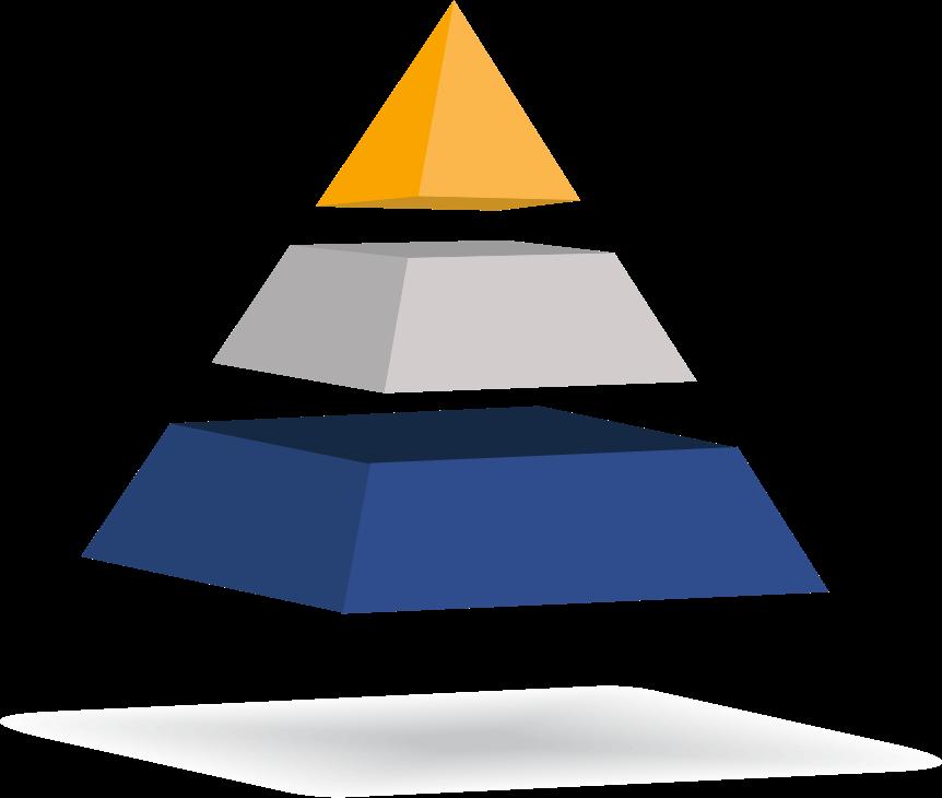 pirámide de 3 cuerpos