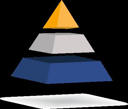 Pirámide de tres colores